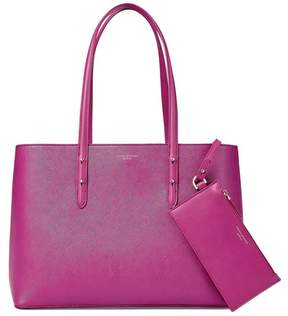 Aspinal of London | Regent Tote In Orchid Saffiano | Orchid saffiano