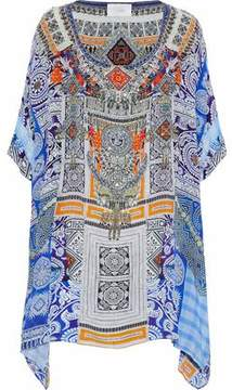 Camilla Embellished Printed Silk Crepe De Chine Coverup
