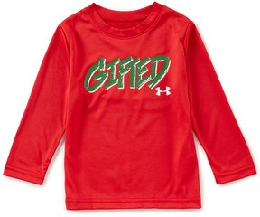 Under Armour Little Boys 2T-7 Christmas Gifted Long-Sleeve Tee