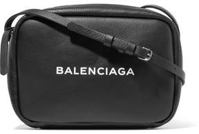 Balenciaga Printed Leather Camera Bag - Black