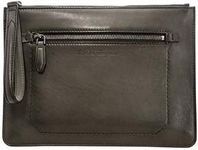 Salvatore Ferragamo Men's Leather Pouch- Brown