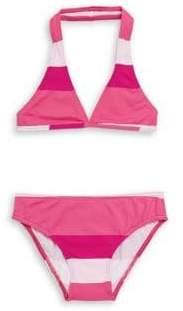 Oscar de la Renta Little Girl's & Girl's Two-Piece Colorblock Bikini