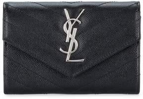 Saint Laurent small monogram envelope wallet - BLACK - STYLE