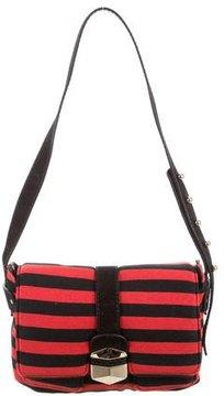 Sonia Rykiel Striped Knit Messenger Bag