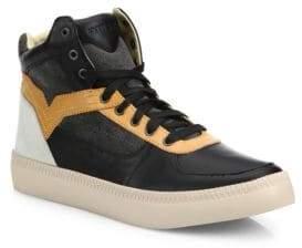 Diesel Spaark Leather & Suede High-Top Sneakers