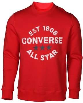 Converse Men's Heritage All Star Crew Sweatshirt-Red