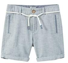 MANGO Linen-cotton blend bermuda short