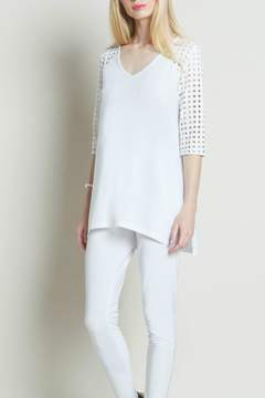 Clara Sunwoo Perforated Trimmed Tunic