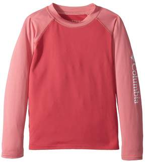Columbia Kids Mini Breaker Long Sleeve Sunguard Girl's Long Sleeve Pullover