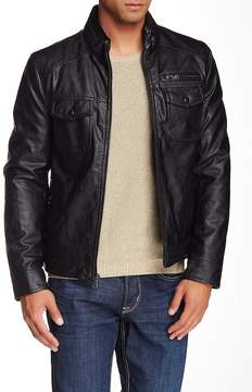 Kenneth Cole New York Faux Leather Zip Front Jacket