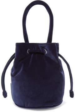 Loeffler Randall Jesmyn Velvet Bucket Bag - Midnight blue