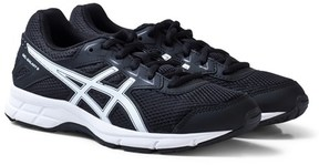 Asics Black and White Junior Gel-Galaxy 9 Running Trainers