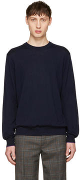 Paul Smith Navy Merino Knit Pullover