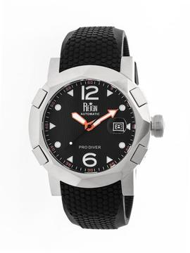Reign Tudor Collection REIRN1202 Men's Stainless Steel Watch with Silicone Strap