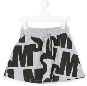 MSGM drawstring logo skirt