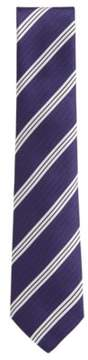 BOSS Hugo Striped Italian Silk Tie One Size Purple