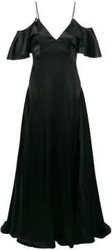 Blumarine off-shoulder side slit dress
