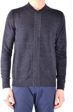 Hosio Men's Grey Wool Sweater.