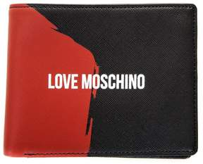 Love Moschino Black & Red Soffiano Leather Wallet