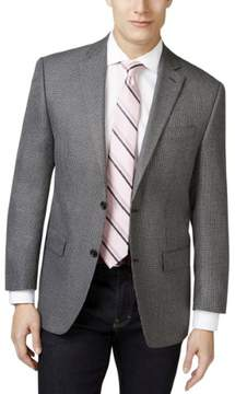 MICHAEL Michael Kors Mens Houndstooth Notched Lapel Two-Button Blazer