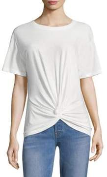 7 For All Mankind Knot Front Tee