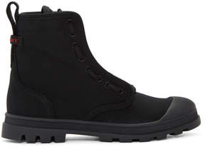 Burberry Black Lismore Lace-Up Boots