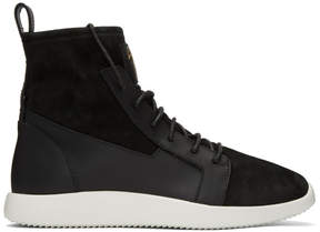 Giuseppe Zanotti Black Singleg High-Top Sneakers