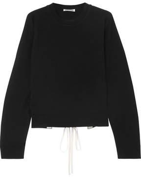 Jil Sander Open Back Lace-up Cashmere Sweater - Black