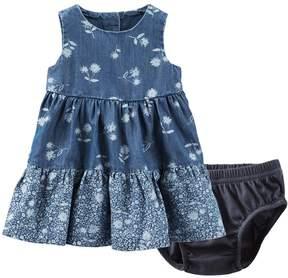 Osh Kosh Baby Girl Printed Chambray Dress