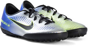 Nike Blue and Silver Mercurial Victory VI Firm Artificial Turf Football Boots