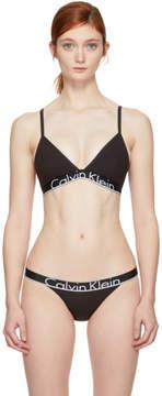 Calvin Klein Underwear Black Unlined Triangle Bra