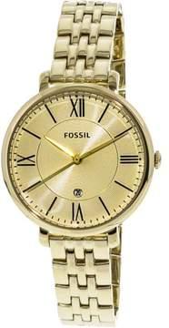 Fossil Women's Jacqueline ES3434 Gold Stainless-Steel Japanese Quartz Fashion Watch