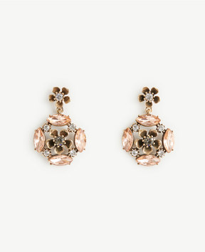 Ann Taylor Crystal Flower Earrings