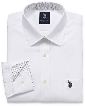 U.S. Polo Assn. USPA Uspa Dress Shirt Long Sleeve Broadcloth Dress Shirt - Slim