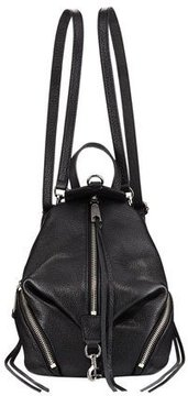 Rebecca Minkoff Julian Convertible Mini Leather Backpack - BLACK - STYLE