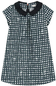 Jean Bourget Checked dress with a Peter Pan collar