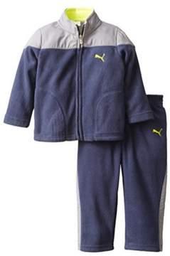 Puma Toddler Little Boys 2 Piece Blue Gray Polar Fleece Jacket Pants Set 6