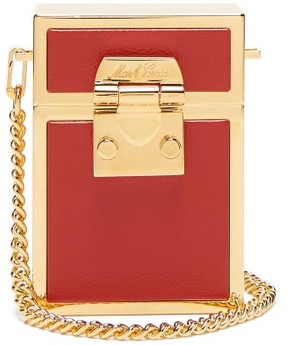 Mark Cross Nicole Leather And Gold Plated Cross Body Bag - Womens - Red