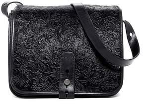 Lucky Brand Rose Embossed Genuine Calf Hair Crossbody Bag