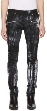 Balmain Black Tie-Dye Biker Jeans