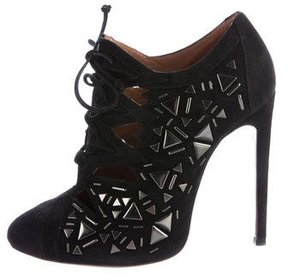 Alaia Suede Embellished Booties w/ Tags