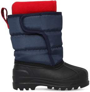 Ralph Lauren Logo Nylon Canvas Snow Boots