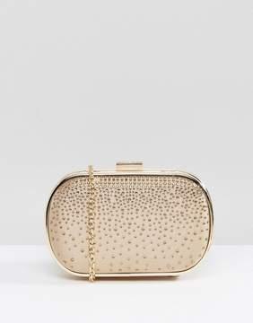 ALDO Nude Embellished Clutch Bag