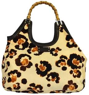 Kate Spade Animal Print w/ Bamboo Bag - TAN - STYLE