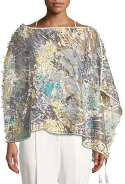 Express Casual Apparel Co 3D-Mesh Floral Topper