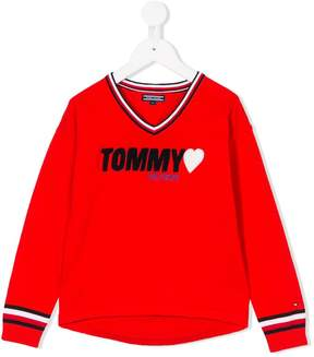 Tommy Hilfiger Junior logo knitted jumper