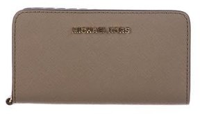 MICHAEL Michael Kors Leather Phone Wristlet - BROWN - STYLE