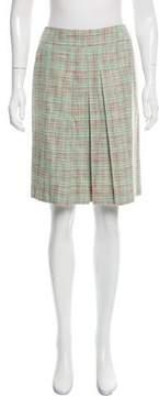Cacharel Plaid Pleated Skirt