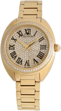 Croton Womens Gold Tone Bracelet Watch-Cn207564ylpv