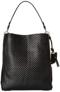 Cole Haan Woven Leather Zoe Bucket Handbags